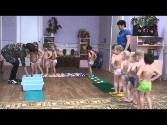 Закаливающие процедуры в детском саду